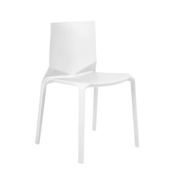 Vector White Modern Stackable Side Chair (Set of 4)