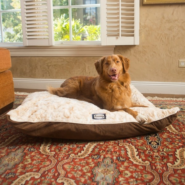 Simmons Snuggly Sleep Reversible Pillow Dog Bed