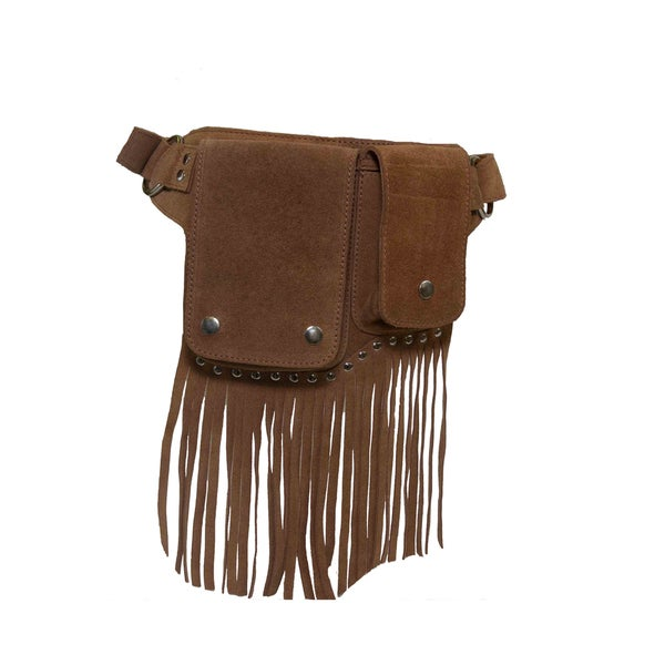 Laurel Suede Leather Fringe WaistBag