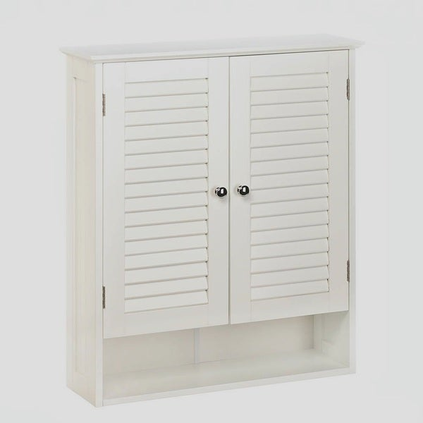 Olympia Wall Mounted 2-Door Louvered Cabinet