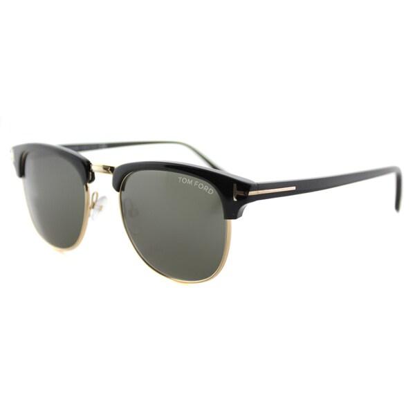 Tom Ford TF 248 05N Henry Vintage Black Plastic Fashion Green Lens Sunglasses