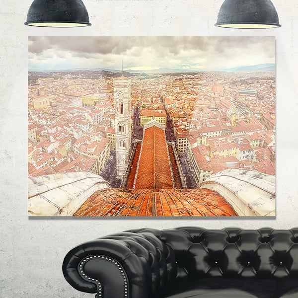 Florence View from Duomo Cathedral - Cityscape Glossy Metal Wall Art