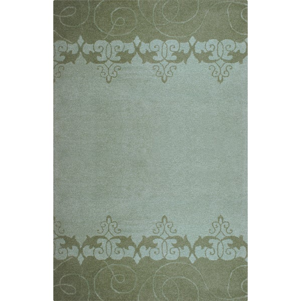 Hand-tufted Lotus Mist Wool Rug (3'6 x 5'6)