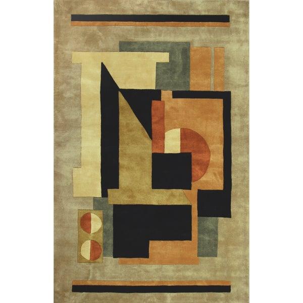 Hand-tufted Regal Wool Rug (9'6 x 13') -  Jaunty