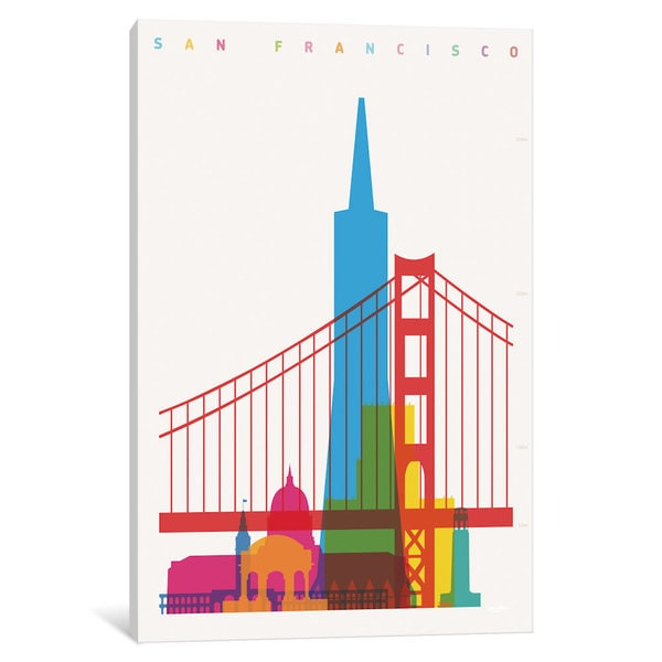 iCanvas San Francisco by Yoni Alter Canvas Print
