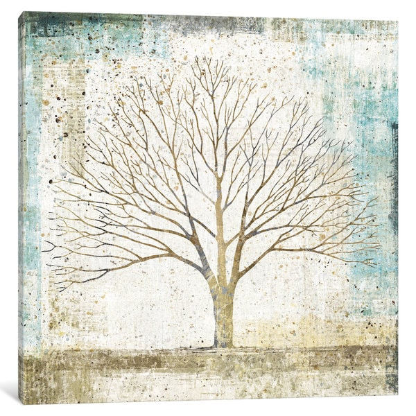 iCanvas Solitary Tree Collage by All That Glitters Canvas Print