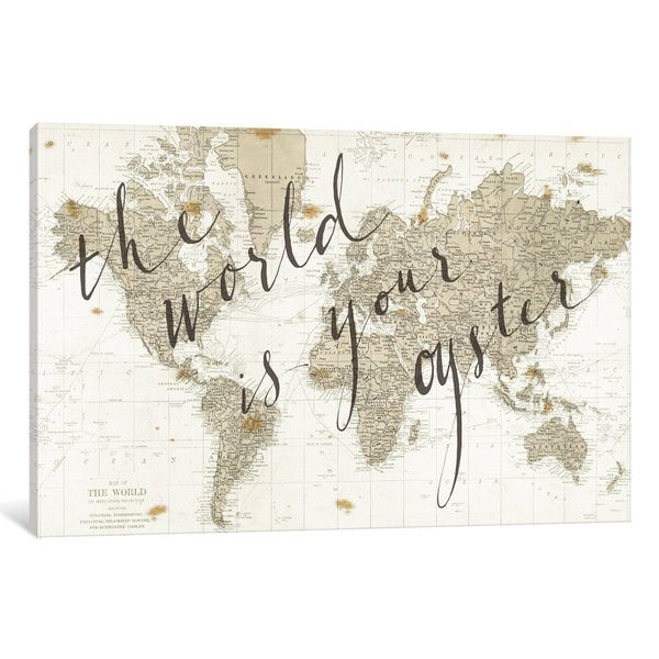 iCanvas The World Is Your Oyster by Sara Zieve Miller Canvas Print