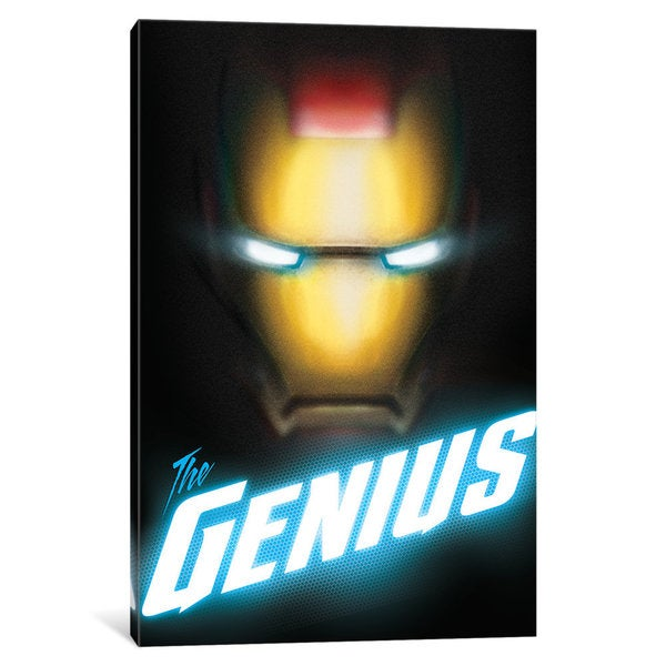 iCanvas Avengers Assemble: Iron Man In Zoom Classic Situational Art (The Genius) by Marvel Comics Canvas Print