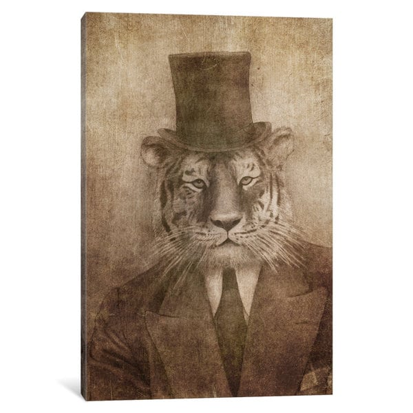 iCanvas Sir Tiger by Terry Fan Canvas Print