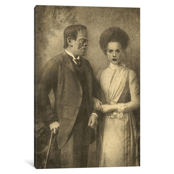 iCanvas Mr. And Mrs. Frankenstein by Terry Fan Canvas Print
