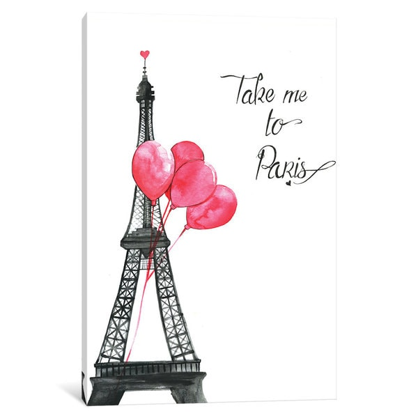 iCanvas Take Me To Paris by Rongrong DeVoe Canvas Print