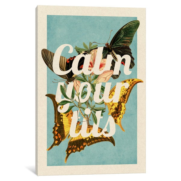 iCanvas Calm Your Tits by 5by5collective Canvas Print