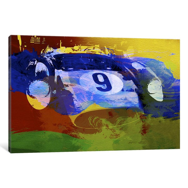iCanvas Ferrari Testarossa Watercolor by Naxart Canvas Print