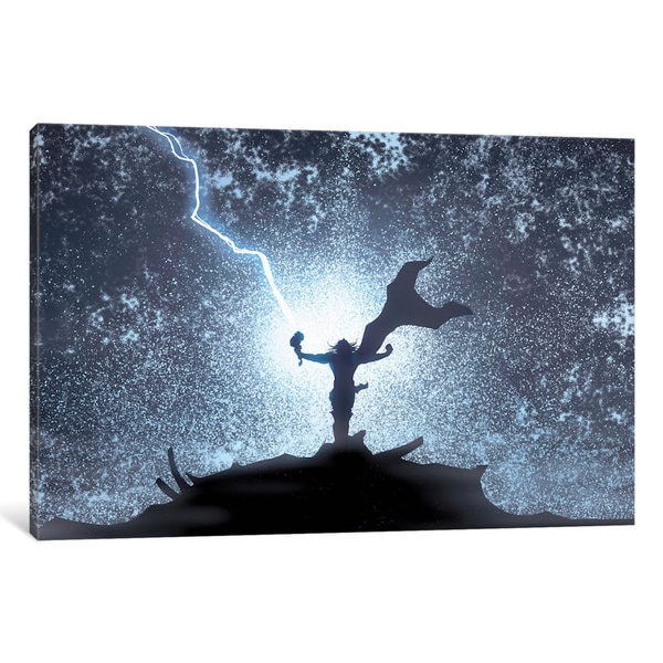 iCanvas Marvel Avengers: Thor Silhouette by Marvel Comics Canvas Print