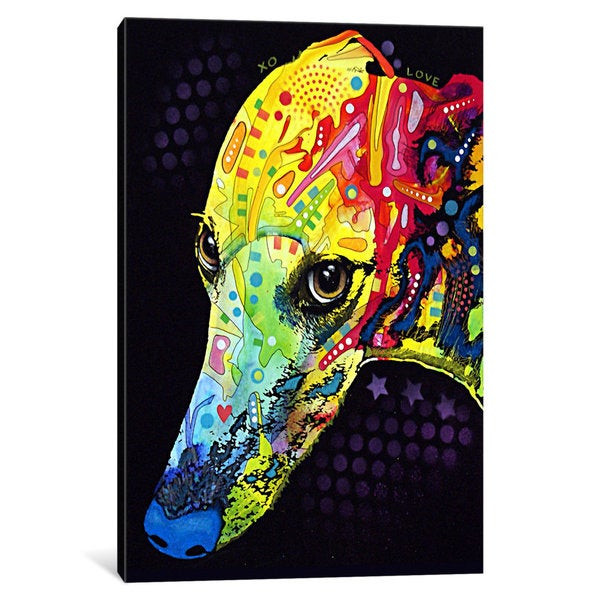 iCanvas Greyhound by Dean Russo Canvas Print