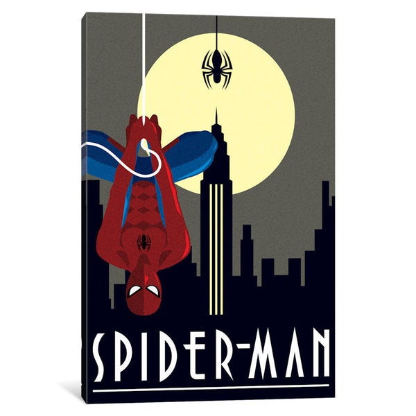 iCanvas Spider-Man Minimalistic by Marvel Comics Canvas Print