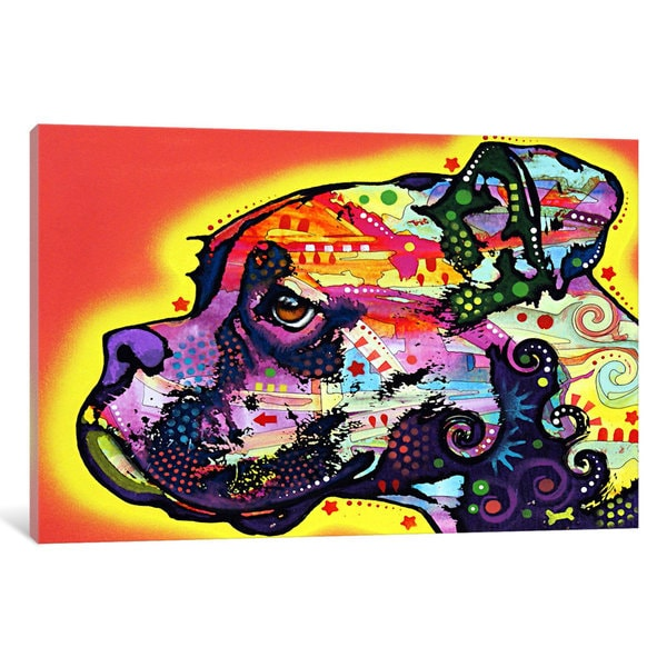 iCanvas Profile Boxer by Dean Russo Canvas Print