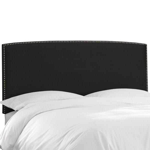 Skyline Furniture Premier Black Nail Button Border Headboard
