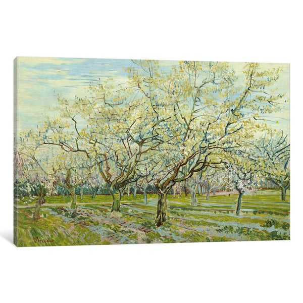 iCanvas The White Orchard by Vincent van Gogh Canvas Print
