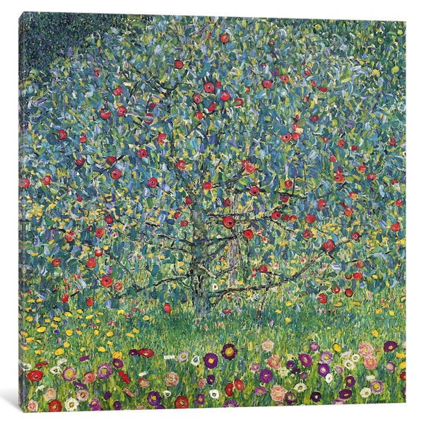 iCanvas Apfelbaum (Apple Tree) by Gustav Klimt Canvas Print
