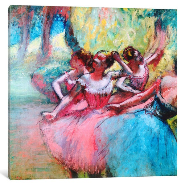 iCanvas Four Ballerinas on The Stage by Edgar Degas Canvas Print
