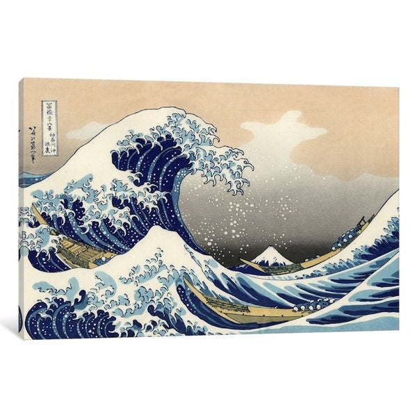 iCanvas The Great Wave at Kanagawa, 1829 by Katsushika Hokusai Canvas Print