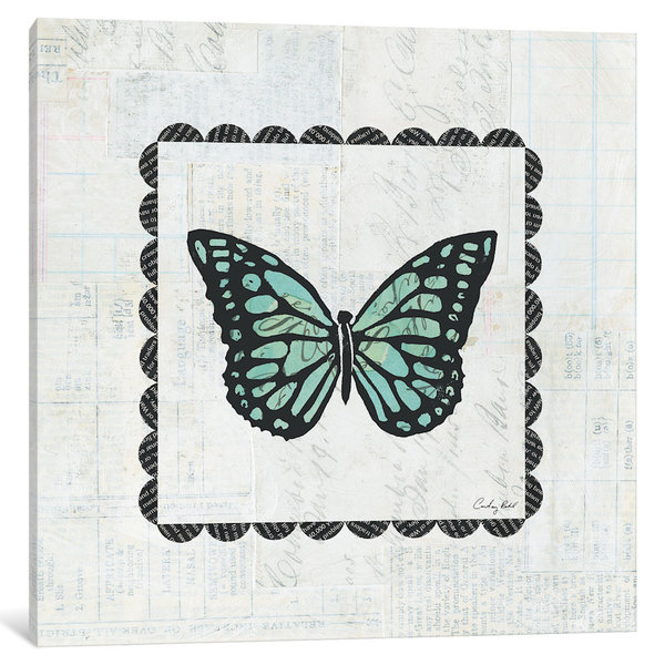 iCanvas Butterfly Stamp by Courtney Prahl Canvas Print