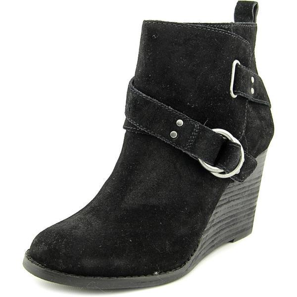 Lucky Brand Women's Yerik Black Suede Boots