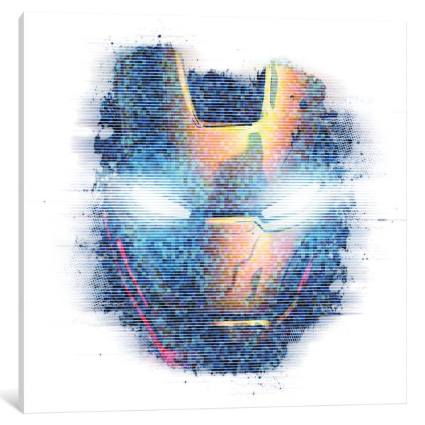 iCanvas Iron Man, Digital Portrait by Marvel Comics Canvas Print