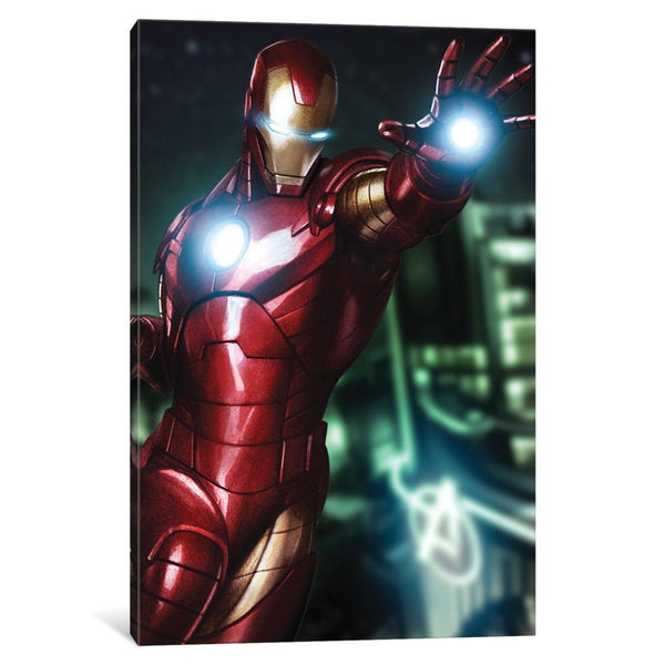 iCanvas Tony Stark aka Iron Man by Marvel Comics Canvas Print