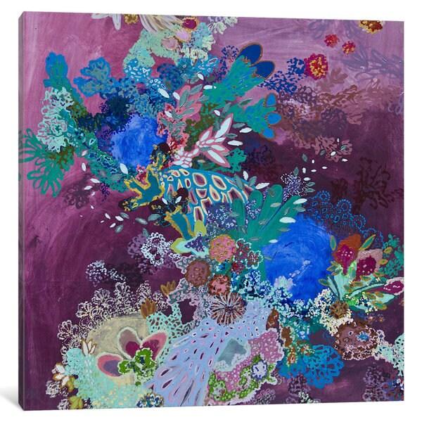 iCanvas Todo eso vena con las olas by Lia Porto Canvas Print