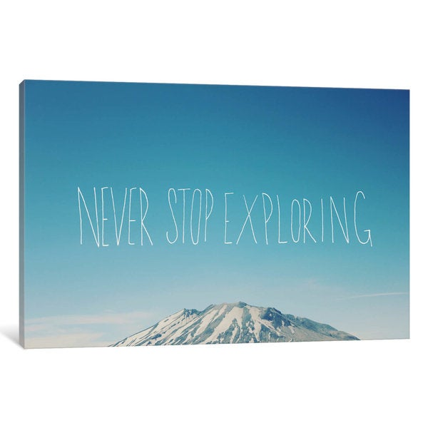 iCanvas Never Stop Exploring by Leah Flores Canvas Print