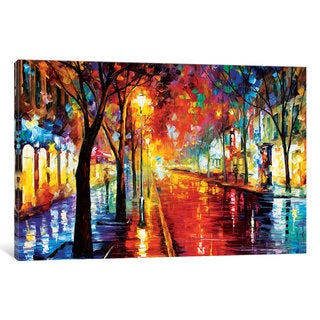 iCanvas Street of The Old Town by Leonid Afremov Canvas Print