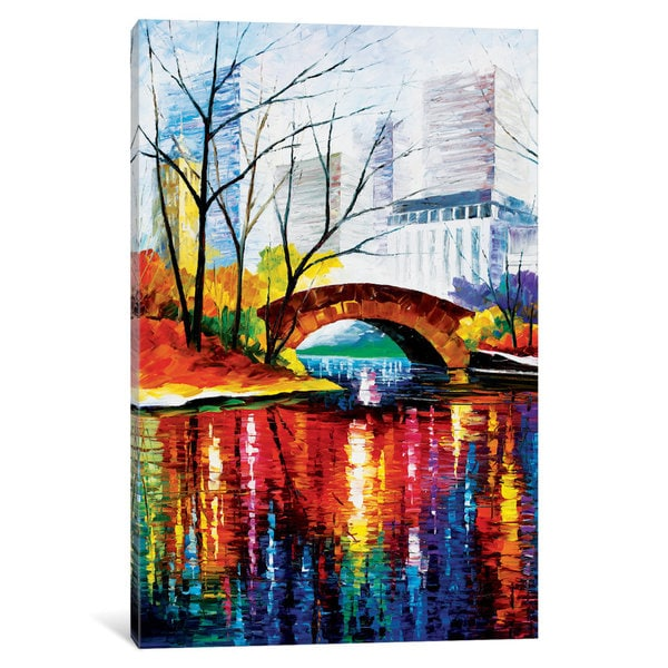 iCanvas Central Park - New York by Leonid Afremov Canvas Print