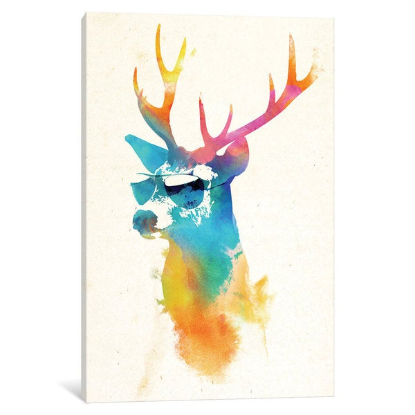 iCanvas Sunny Stag by Robert Farkas Canvas Print