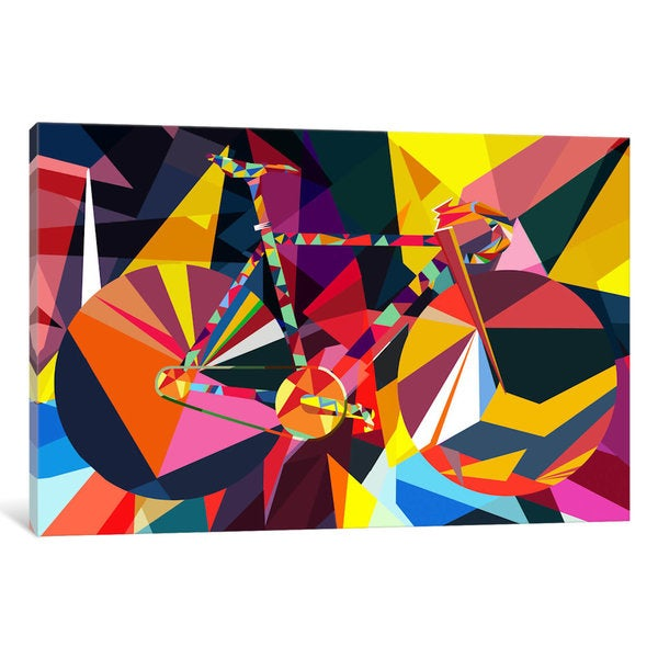 iCanvas Polygon Fixie by iCanvas Canvas Print