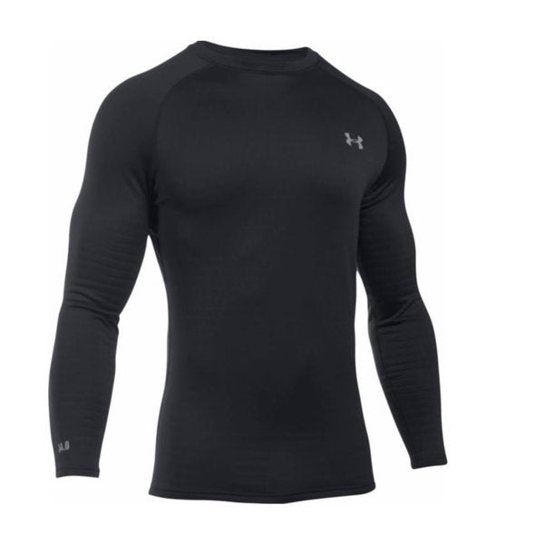 Under Armour Base Men's 1281082 4.0 Black Polyester/Elastane Long-sleeved Crew Ski/Snowboard Shirt