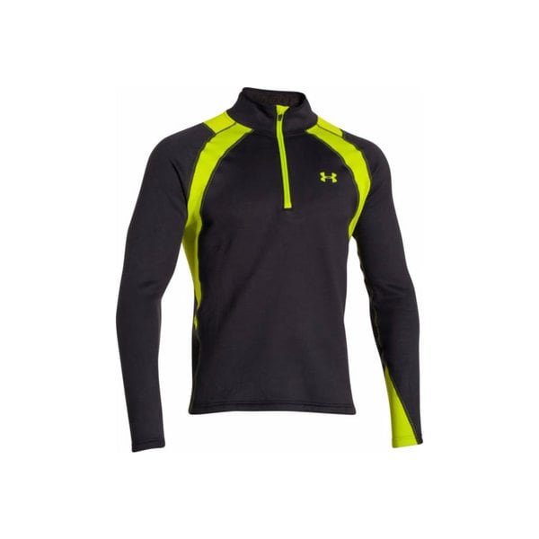 Under Armour Men's 1259135 Black/ Green Polyester/ Elastane Long-sleeved Extreme Hunting Base