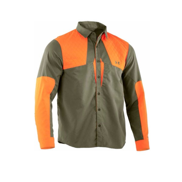 Under Armour 1238309 Prey Field General Thyme/Blaze Orange Hunting Long-sleeved Shirt
