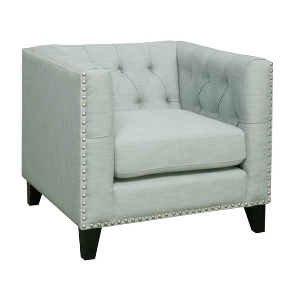 Emerald Spa Button Tufted Contemporary Club Chair