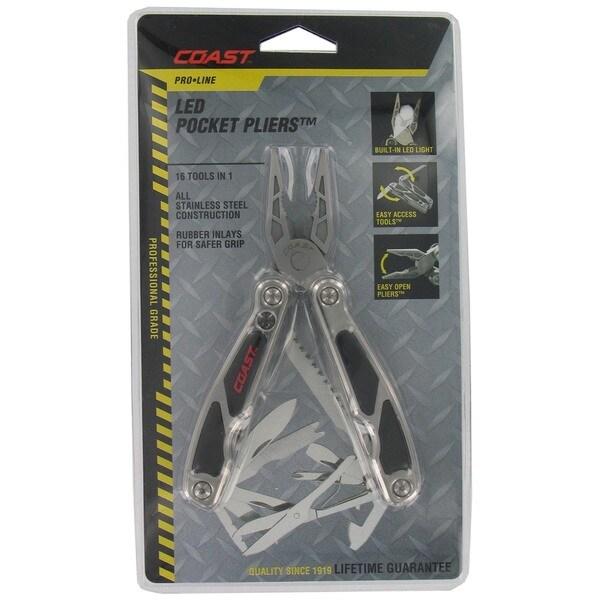 "Coast C5799CP 4"" Stainless Steel Pro Line LED Pocket Pliers Multi Tool"