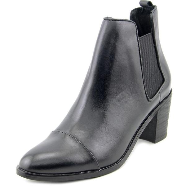 Steven Steve Madden Women's 'Imaginn' Black Leather Ankle Boots