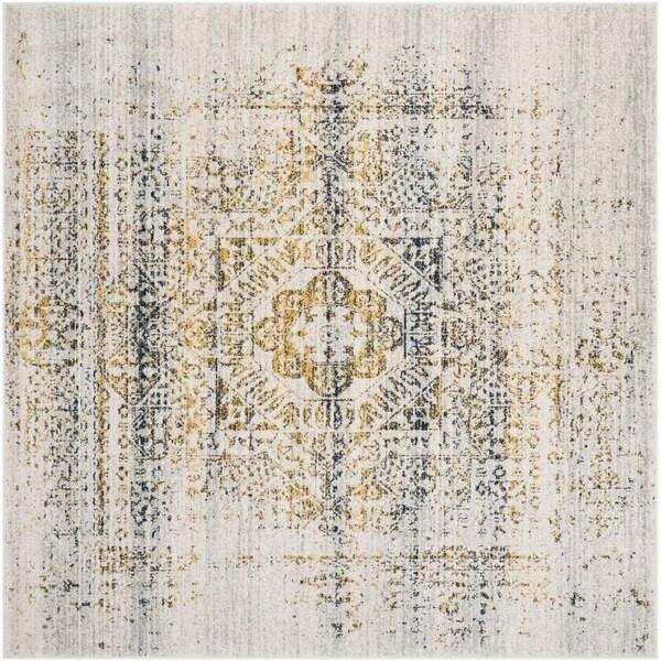 Safavieh Evoke Vintage Ivory / Blue Rug (6' 7 Square)