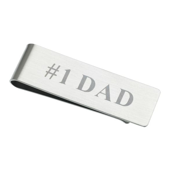 #1 Dad Stainless Steel Money Clip