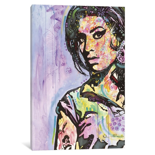 iCanvas Amy Winehouse by Dean Russo Canvas Print