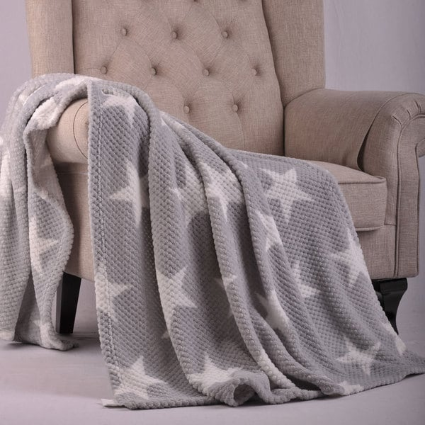 BOON Star Printed Flannel Travel Throw