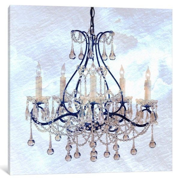 iCanvas Frosted Chandelier by iCanvas Canvas Print