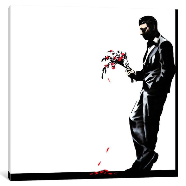 iCanvas Waiting in Vain at the Door of the Club #2 by Banksy Canvas Print