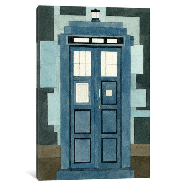 iCanvas Tardis by Adam Lister Canvas Print