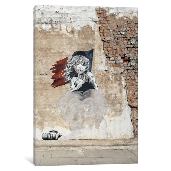 iCanvas Les Mise?rables on Brick by 5by5collective Canvas Print